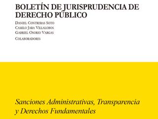 Boletín de Jurisprudencia de Derecho Público S1-2019 | Sanciones Administrativas, Transparencia y Derechos Fundamentales